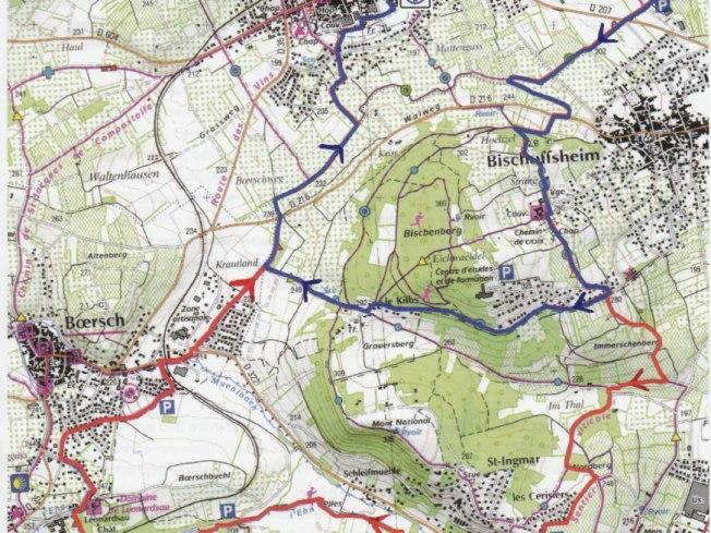 Carte des parcours